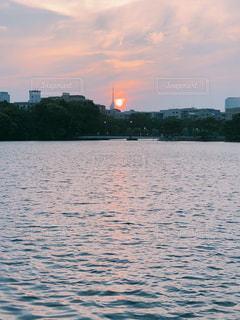 自然,風景,湖,夕暮れ