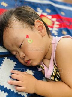 ハート,寝顔,癒し,お昼寝,男の子,2歳,息子,大好き,マーク,シール,ヤンチャ