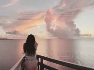 恋人岬の空の写真・画像素材[2513846]