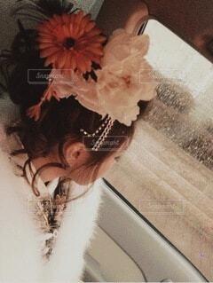 花,アクセサリー,雨,イベント,和服,お祝い,晴れ着,ヘアアレンジ,成人式,和装,行事,成人の日,人間の顔