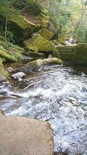 自然,川,水面,山,岩,渓谷