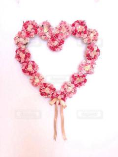 花,ピンク,室内,ハート,リボン,リース,愛,装飾,愛情,マーク,造花,ラブリー,ハートリボン