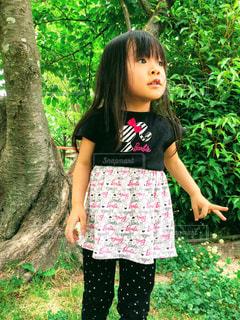 公園,自撮り,子供,女の子,セルフィー,セルフショット