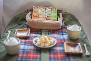 ホットソイラテきな粉&豆乳白玉団子♡の写真・画像素材[3818490]