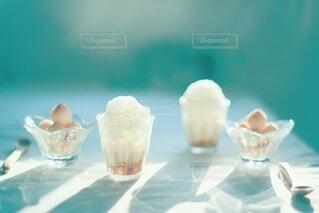 手作り豆乳きな粉白玉団子ときな粉ソイラテ♡の写真・画像素材[3883932]