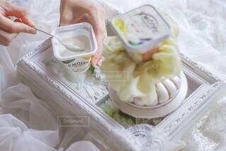 ふわっとサンモレチーズムースでおやつTime♡の写真・画像素材[3985281]