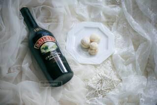 手作りヨーグルトベイリーズアイスサンド(スノーボールクッキーの写真・画像素材[4038310]