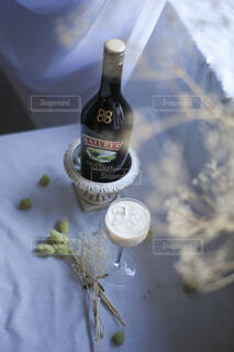 オススメの飲み方はナタデココ☆ロックに入れるだけで簡単♪の写真・画像素材[4042611]