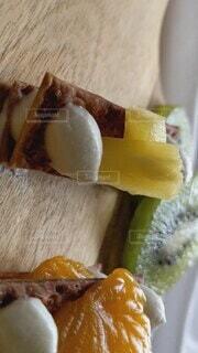 生パスタシートで果物をのせた簡単スイーツ♡♡♡の写真・画像素材[4735285]