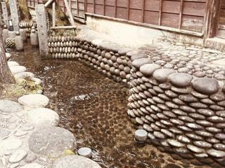 屋外,水,レトロ,石,フィルム,懐かしい,雰囲気,流れ,昔,岐阜県,フィルム写真,郡上八幡,フィルムフォト