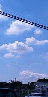 白い雲と青空の写真・画像素材[2445888]