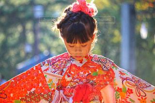 着物を着た女の子の写真・画像素材[2397584]