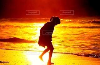 光を浴びる少女の写真・画像素材[2635534]