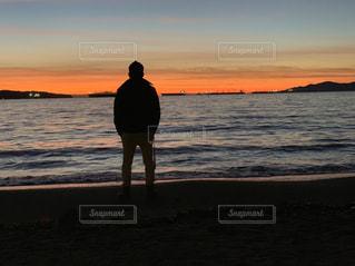 恋人,風景,海,空,太陽,ビーチ,夕暮れ,海岸,光,サンセット,Canada,Vancouver