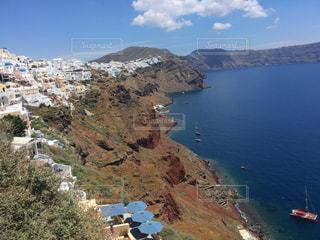 ギリシャ・サントリーニ島  イアの街の写真・画像素材[2334607]