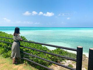宮古島のエメラルドな海の写真・画像素材[2385915]