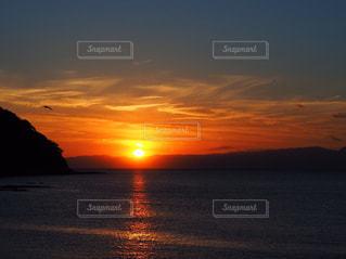 風景,海,空,太陽,夕暮れ,オレンジ,光,江ノ島