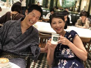 夏 京都のカフェにての写真・画像素材[2325775]