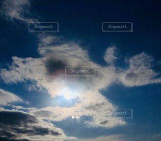 空,太陽,雲,光,逆光