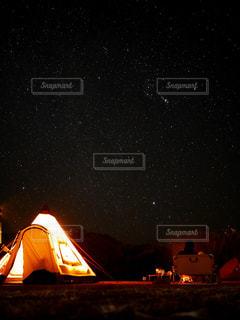 真冬のキャンプの写真・画像素材[2376342]