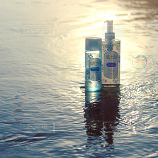 海,水面,光,シャボン玉,キラキラ,コスメ,化粧品,メイク落とし,ビフェスタ,Bifesta,クレンジングローション