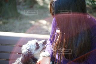 愛犬と一緒。の写真・画像素材[1587612]