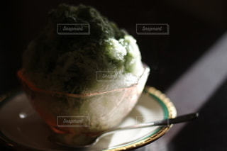抹茶かき氷の写真・画像素材[3641632]