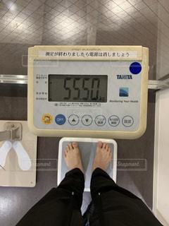 ゾロ目の体重計の写真・画像素材[2332244]
