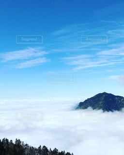 新穂高山頂からの雲海の写真・画像素材[2418727]