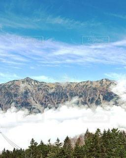穂高山頂より雲海の写真・画像素材[3577512]
