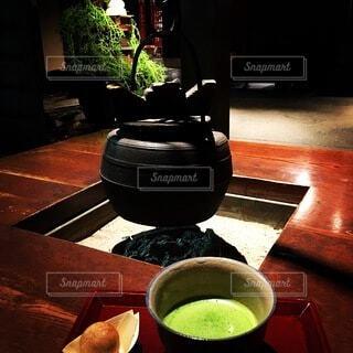 饅頭と抹茶の写真・画像素材[3866435]