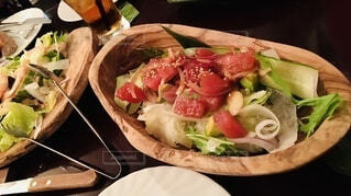 マグロのサラダの写真・画像素材[3900974]