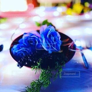 青い薔薇の写真・画像素材[3964248]