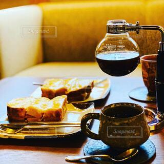 クロックムッシュとコーヒーの写真・画像素材[4341583]