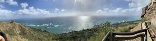 海,空,太陽,雲,光