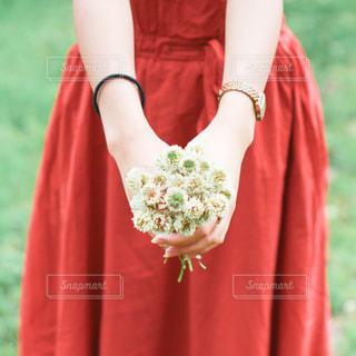 赤いドレスを着ている人の写真・画像素材[2809077]