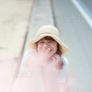 帽子をかぶった女性の写真・画像素材[2809079]