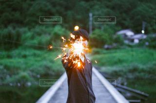 火のぼやけた写真の写真・画像素材[3141914]
