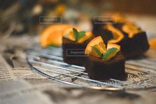 ケーキの片をクローズアップするの写真・画像素材[3195800]