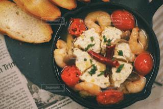 食べ物の皿のクローズアップの写真・画像素材[3206538]