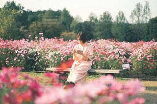 庭にいる人の写真・画像素材[4232734]