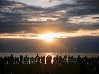 自然,空,太陽,朝日,雲,海岸,正月,お正月,日の出,新年,初日の出