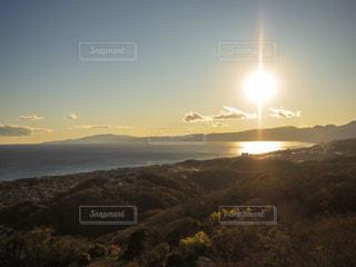 自然,空,屋外,太陽,夕暮れ,光,丘,湘南