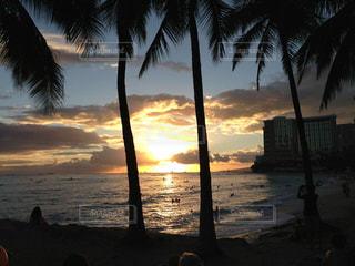 ハワイの夕暮れの写真・画像素材[2346684]