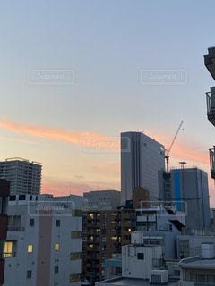 高い建物のある都市の眺めの写真・画像素材[3472196]