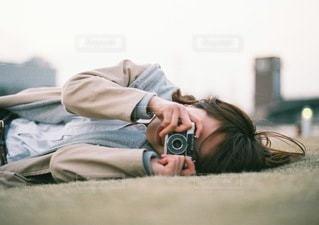 ハーフカメラの写真・画像素材[3390122]