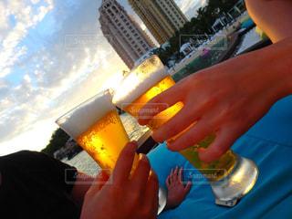 夜,海外,ビーチ,プール,旅行,グラス,乾杯,バー,セブ,ドリンク,サンセット,海外旅行,居酒屋,かんぱい,カンパイ