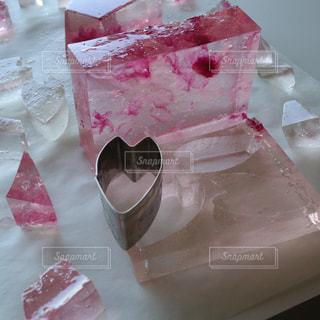 桜の琥珀糖の写真・画像素材[3225403]