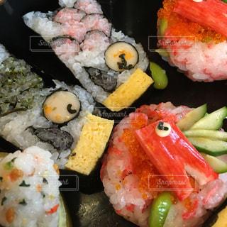 寿司のクローズアップの写真・画像素材[2387275]