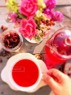 ハイビスカスの紅茶の写真・画像素材[2661916]
